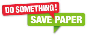 Do Something - Save Paper