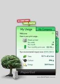 Save Paper Widget